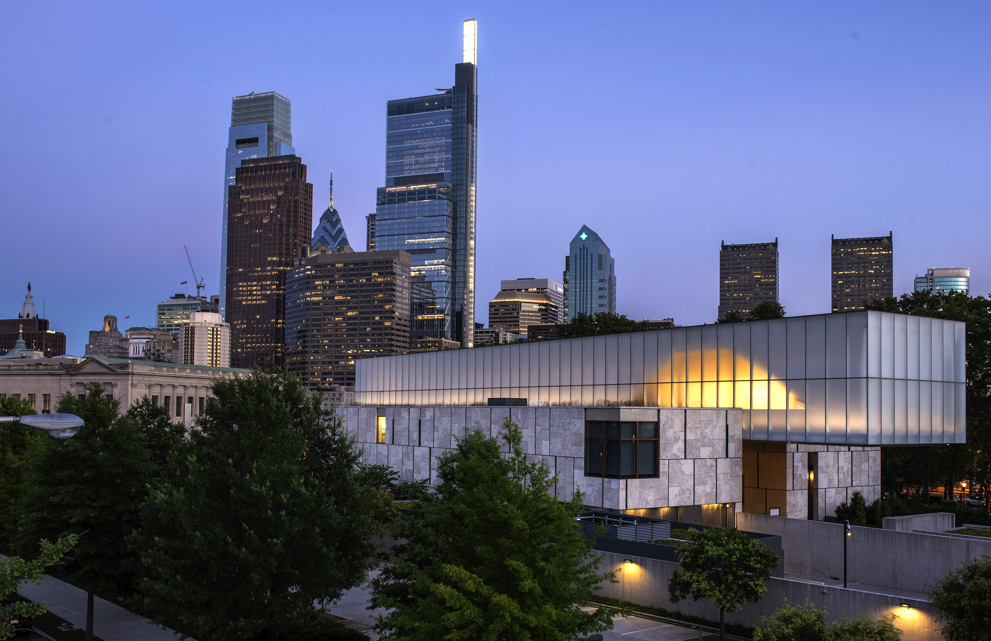Barnes Foundation, Summer, skyline, comcast